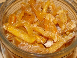 Hard Candied Lemon Peel